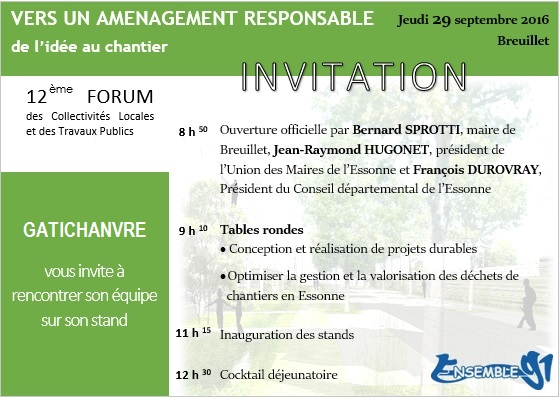 invitation forum breuillet