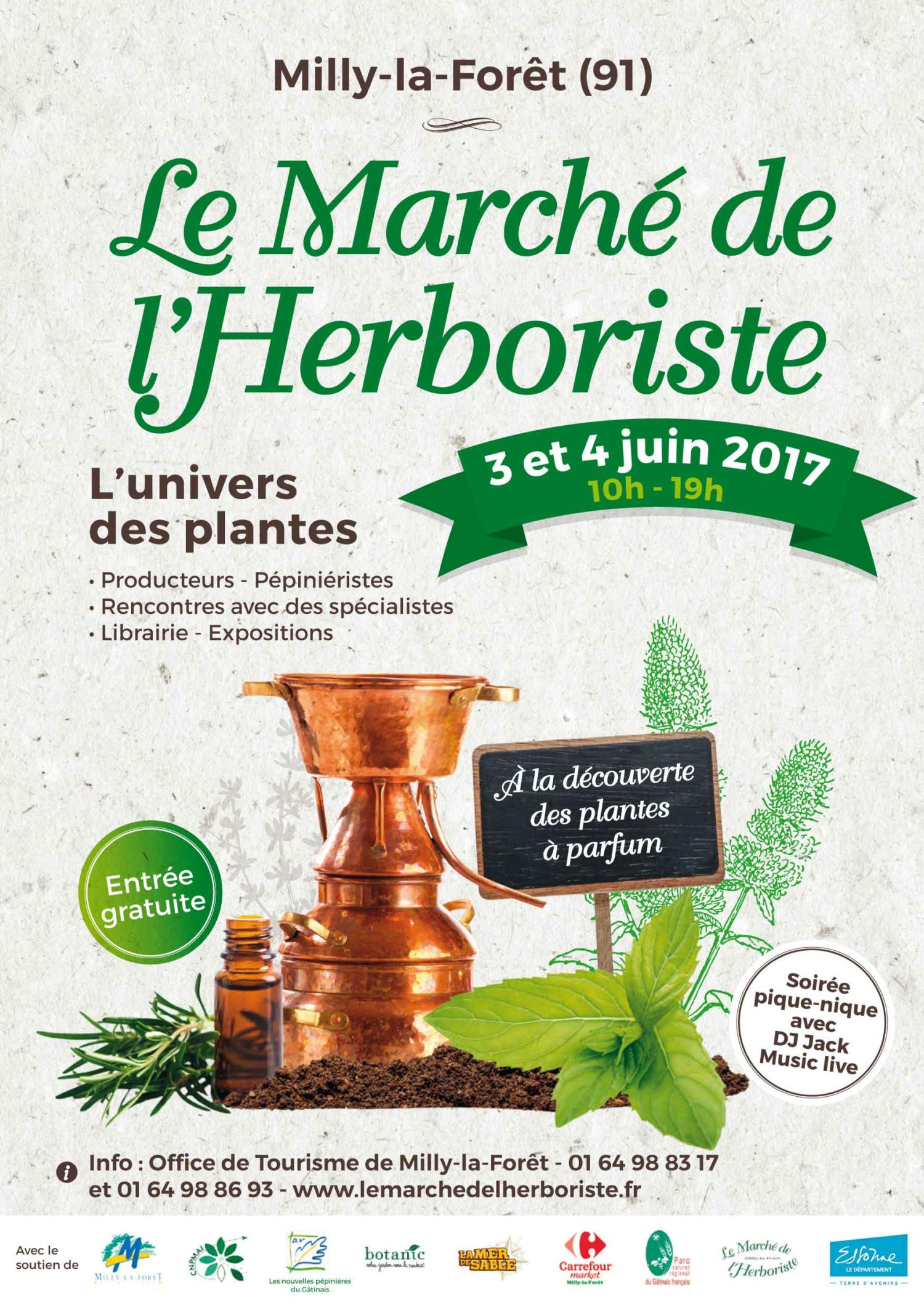 March milly la for t march de l 39 herboriste les 3 et 4 - Entree gratuite salon de l agriculture ...